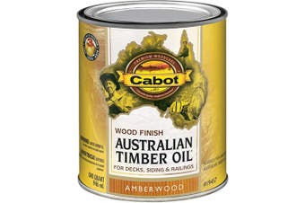 (Quart, Low Voc Amberwood) - Cabot 140.0019457.005 Australian Timber Oil Water Reducible Stain, Quart, Low Voc Amberwood
