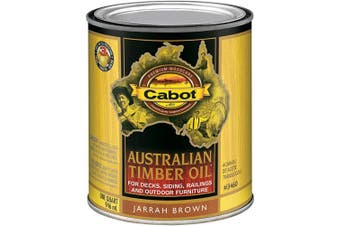 (Quart, Jarrah Brown) - Cabot 140.0003460.005 Australian Timber Oil Stain, Quart, Jarrah Brown