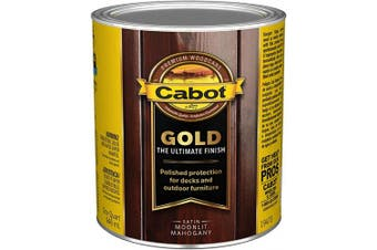 (Quart, Low VOC Moonlit Mahogany) - Cabot 140.0019473.005 Gold Finish Stain, Quart, Low VOC Moonlit Mahogany