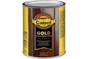 (Quart, Moonlit Mahogany) - Cabot 140.0003473.005 Gold Finish Stain, Quart, Moonlit Mahogany