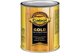 (Quart, Sen-Drenched Oak) - Cabot 140.0003470.005 Gold Finish Exterior Stain, Quart, Sen-Drenched Oak