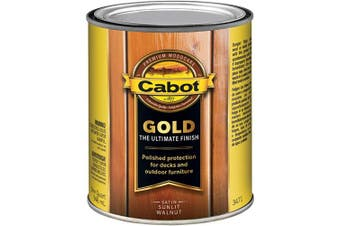 (Quart, Sunlit Walnut) - Cabot 140.0003471.005 Gold Finish Stain, Quart, Sunlit Walnut
