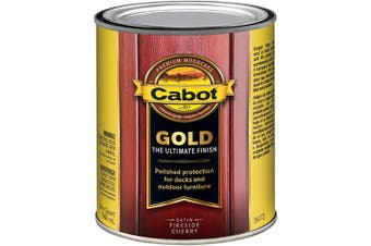 (Quart, Fireside Cherry) - Cabot 140.0003472.005 Gold Finish Stain, Quart, Fireside Cherry