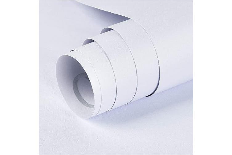 15 7in X 16 4ft Matte White Symoden 40cm X 5m Matte White Contact Paper Peel And Stick Wallpaper Self Adhesive Removable Contact Paper Thicken Waterproof Wallpaper For Kitchen Countertop Cabinet Wardrobe Matt