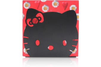 (Black (Hello Kitty)) - Finex Hello Kitty Head Stainless Steel Napkin Holder Stand for kitchen table party (Black)