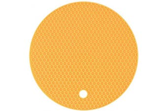 (1, Yellow) - Agole Extra Thick Silicone Trivet Mat, Hot Pads Non-Slip Silicone Insulation Mat for Home Use (Yellow, 1pcs)