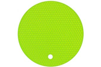 (1, Green) - Agole Extra Thick Silicone Trivet Mat, Hot Pads Non-Slip Silicone Insulation Mat for Home Use (Green, 1pcs)