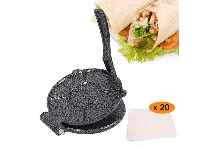 Humorous P 20cm Tortilla Press Flour Tortilla Press Corn Tortilla Press With Free Parchment Paper 20 Pcs Matt Blatt