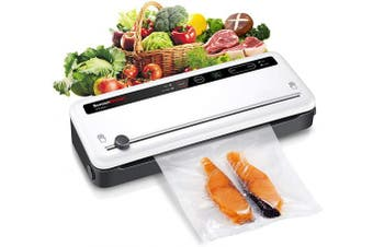 (White) - Upgrade Automatic Food Saver Vacuum Sealer Machines, Sous Vide Food Vacuum Packing Machines, Food Sealing Preservation For Home, Kitchen, Meat