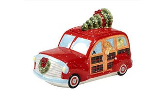 Certified International Home for Christmas 3-D Truck Cookie Jar 28cm x 16cm x 18cm Servware, Serving Accessories, One Size, Multicoloured