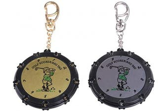 HOW TRUE 2 Pcs Golf Score Stroke Counter 18 Holes 9 Shots Golf Score Keeper with Clip Keychain
