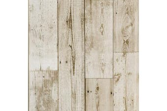 (90070) - Akea Wood Peel and Stick Wallpaper Vintage Wood Plank Contact Paper Self-Adhesive Removable Wall Covering Prepasted Decorative 45cm x 600cm