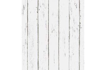 (90064) - Akea White Wood Wallpaper Peel and Stick 45cm x 600cm Contact Paper Self-Adhesive Removable Wall Covering Vintage Decorative Prepasted