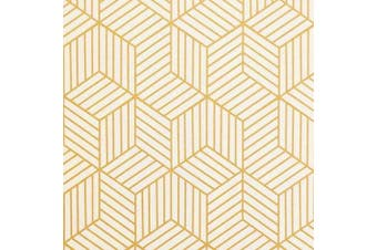 "(17.7 In x 197 In) - 197""x17.7"" Gold and Beige Geometry Stripped Hexagon Peel and Stick Wallpaper Gold Stripes Wallpaper Luxury Paper Removable Self Adhesive Vinyl Film Decorative Shelf Drawer Liner Roll"