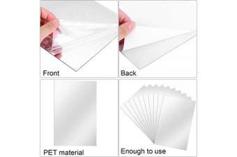 (15cm  x 23cm ) - BBTO 20 Pieces Mirror Sheets Self Adhesive Non Glass Mirror Tiles Wall Sticky Mirror (15cm x 23cm )