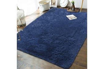 (1.5m x 2.4m, Light Navy) - Andecor Soft Fluffy Bedroom Rugs - 1.5m x 2.4m Indoor Shaggy Plush Area Rug for Boys Girls Kids Baby College Dorm Living Room Home Decor Floor Carpet, Light Navy