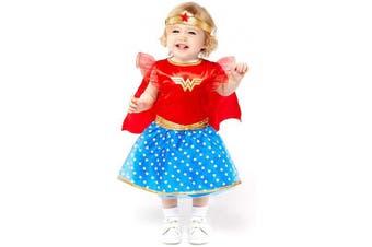 (2-3 Years) - amscan Baby Toddler Warner Bros Wonder Woman Fancy Dress Costume .