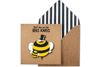 Dad, You're The Bees Knees Handmade Greeting Card, TC300