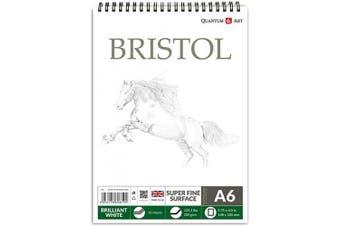 A6 200gsm Bristol Sketch Pad White Drawing Artist Paper GUMMED Book - 30 Sheets