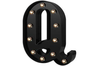 (Cool Black-q) - Adorn Life Led Marquee Letter Lights Newly Design Light up Letters for Events Wedding Party Birthday Home Bar DIY Decoration(Cool Black Q)
