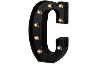 (Cool Black-c) - Adorn Life Led Marquee Letter Lights Newly Design Light up Letters for Events Wedding Party Birthday Home Bar DIY Decoration(Cool Black C)