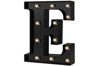 (Cool Black-e) - Adorn Life Led Marquee Letter Lights Newly Design Light up Letters for Events Wedding Party Birthday Home Bar DIY Decoration(Cool Black E)