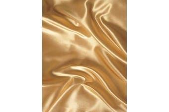 (Queen, Gold) - Mk Collection 4pc Soft Silky Satin Solid Colour Deep Pocket Sheet Set (Gold, Queen)