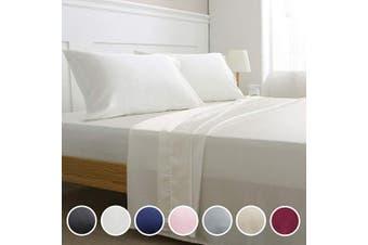 (King, Ivory White) - Vonty Satin Sheets King Size Silky Soft Satin Bed Sheets Ivory White Satin Sheet Set, 1 Deep Pocket + Fitted Sheet + Flat Sheet + 2 Pillowcases