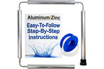 (WITHOUT Socket) - About Fluid Aluminium/Zinc Flexible Anode Rod Kit For Water Heaters | Includes Full Roll Of Teflon Tape | Easy-To-Follow Step-By-Step Instructions | (WITHOUT Cap) (WITHOUT Socket)