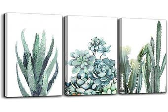 (30cm  x 41cm *3pcs, Green Plants) - Canvas Wall Art for living room bathroom Wall Decor for bedroom kitchen artwork Canvas Prints green plant flowers painting 30cm x 41cm 3 Pieces Modern framed office Home decorations family picture