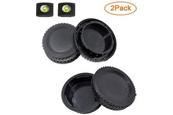 (for Nikon F Mount) - Front Body Cap and Rear Lens Cap Cover for Nikon D7500 D7200 D7100 D7000 D5600 D5300 D5200 D5100 D3500 D3400 D3300 D3200 D3100 D850 D810 D800 D750 D600 D90 D80 More Nikon F Mount DSLR and Lens