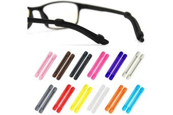 (Style Two) - Alamic Eyewear Retainer Eyeglass Temple Tip for Kids and Adults Silicone Anti Slip Holder for Glasses Piece Ear Hook - 12 Pairs