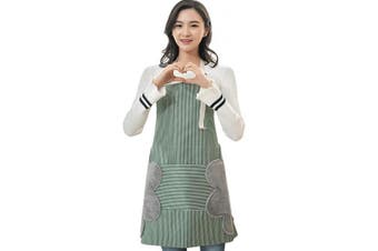 (Green) - AARainbow 1 Pack Waterproof Oxford Cloth Adjustable Cooking Apron Easy to Use Chef Kitchen Smock Nail Bib Unisex Server Apron with 1 Big Pocket for Chef Women Kids Teen Girls Kids Men (Green)