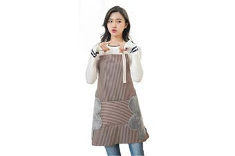 (Coffee) - AARainbow 1 Pack Waterproof Oxford Cloth Adjustable Cooking Apron Easy to Use Chef Kitchen Smock Nail Bib Unisex Server Apron with 1 Big Pocket for Chef Women Kids Teen Girls Kids Men (Coffee)