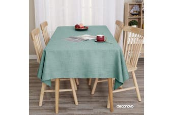 (54W x 120L Inch, Slate) - Deconovo Linen Look Tablecloth Rectangular Oblong Water ResistantTable Cloth for Dining Table 140cm x 300cm Slate