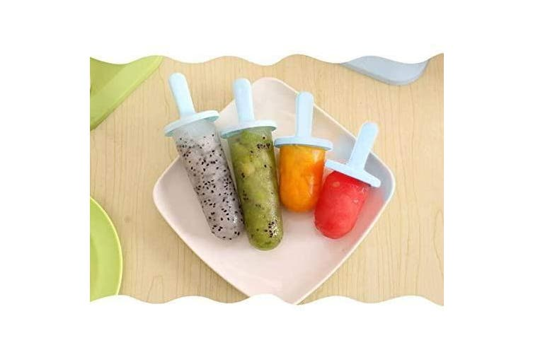 (Light Blue) - Popsicle Moulds Ice Pop Makers Ice Pop Moulds Ice Bar Maker Plastic Popsicle Mould, Kids Ice Cream Tray Holder Lolly Pops, Kitchen Supply,Popsicles (Blue Small)