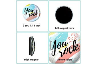 25 Pieces Glass Fridge Magnets Decorative Glass Magnets Inspirational Quote Refrigerator Magnets for Whiteboard Locker Fridge Classroom Home Supplies
