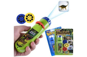 (Dinosaur + Ocean) - Wenosda Projector Torch kid Projection Flashlight lamp Lighting Story Torches Light Toy Slide Lamp Educational Learning Bedtime Night Light for Children(48 Images) (Dinosaur + Ocean)