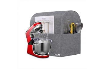 (Large, Gray) - LLYWCM Stand Mixer Cover Kitchenaid Mixer Cover Large Size Mixer Dustproof Cover, Kitchenaid Mixer Accessories, Kitchenaid Small Appliance Protector Shield, Compatible 6-7.6l Kitchenaid Mixers