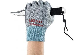 (X-Large, Cut Resistance - 3 Pairs, X-Large) - LIO FLEX Level 5 Cut Resistance NBR Foam Coated Gloves - High Performance, Safe, Flexible, Durable, Breathable, Touch Screen, DMF Free- 3 Pairs, XL