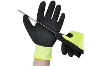 (Extra Small, CUT 5 GLOVES) - Cut Resistant Kitchen Cutting Gloves Level 8 Protection, Safety Work Cut Proof Gloves, Also for Gardening, Extra Small