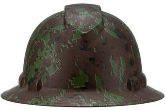 (Camo) - Cool Full Brim Pyramex Hard Hat, Hydrodipped Camo Design Safety Helmet 4pt, by AcerPal