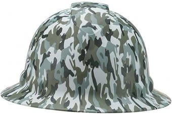 (Multi Jungle Camo Khaki Brown and Black) - Full Brim Pyramex Hard Hat, Multi Jungle Camo Khaki Brown and Black Design Safety Helmet 4pt, By Acerpal