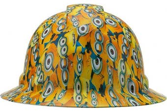 (Minions) - Full Brim Pyramex Hard Hat, Minions Design Safety Helmet 4Pt, By Acerpal