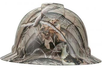 (Camo Camouflage Real Tree) - Full Brim Pyramex Hard Hat, Camo Camouflage Real Tree Design Safety Helmet 4pt, By Acerpal