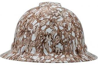 (Deer Skull) - Full Brim Pyramex Hard Hat, Deer Skull Design Safety Helmet 4pt, By Acerpal