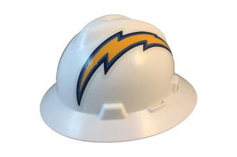 MSA 10194780 NFL V-Gard Full Brim Hard Hat, Los Angeles Chargers