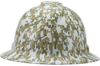 (Digital CADPAT Desert Camo) - Full Brim Pyramex Hard Hat, Digital CADPAT Desert Camo Design Safety Helmet 6pt, By Acerpal