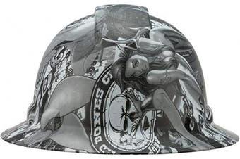 (Fantasy Girls) - Full Brim Pyramex Hard Hat, Fantasy Girls Design Safety Helmet 6pt, By Acerpal