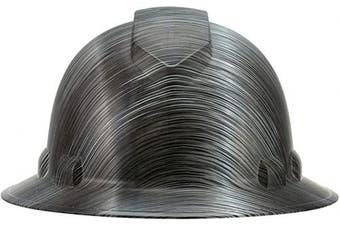 (Metal Stripes) - Full Brim Pyramex Hard Hat, Metal Stripes Design Safety Helmet 6pt, By Acerpal